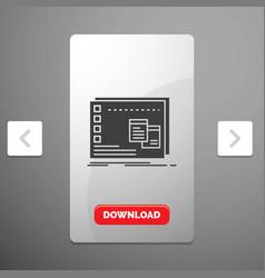 Window mac operational os program glyph icon in vector
