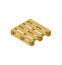 Wooden pallet isometric 3d icon vector