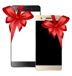Black white smartphone vector