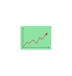 flat graph chart icon vector image