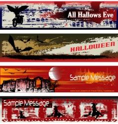 Halloween web vector image vector image