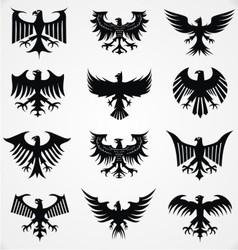 Heraldic Eagle Silhouettes vector image vector image