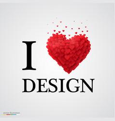 i love design heart sign vector image
