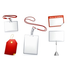 Set of empty tags vector image vector image