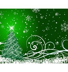 beautiful christmas card vector image