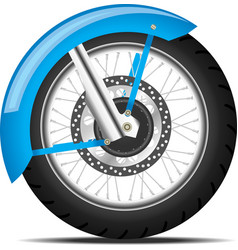 black motorbike wheel vector image vector image