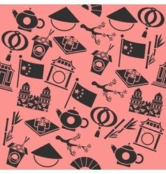China icons pattern vector image