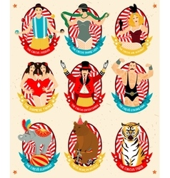 Circus collection vector image