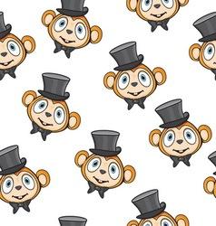 Cute monkey pattern vector image