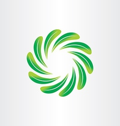 eco green leaf circle abstract background element vector image vector image