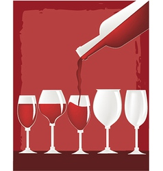 Glass of wine vector image