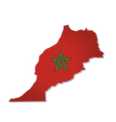 morocco africa map flag vector image vector image
