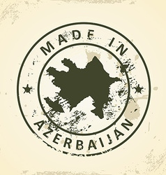 Stamp with map of Azerbaijan vector image vector image