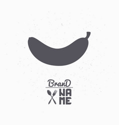 hand drawn silhouette of banana vector image vector image