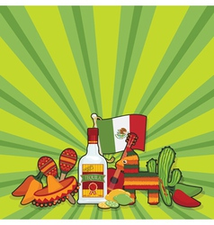 mexican party card vector image
