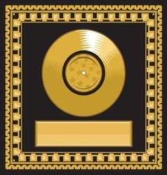 golden record award vector image