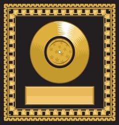 golden record award vector image