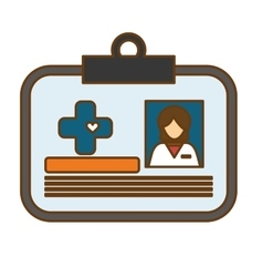 Medical id icon vector