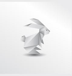 origami rabbit vector image