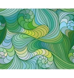 seamless wave background of drawn lines vector image