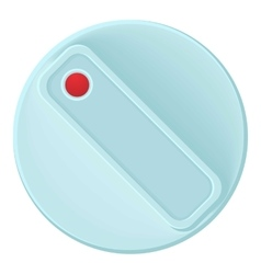 Turn control knob icon cartoon style vector image