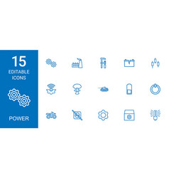 15 power icons vector
