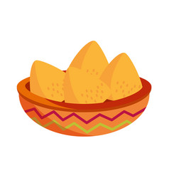 5 may bowl with nachos snack vector image