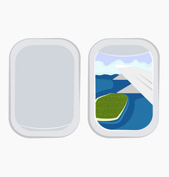 aircraft windowsairplane windowswindow of vector image