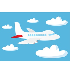 Airplane in the sky vector image
