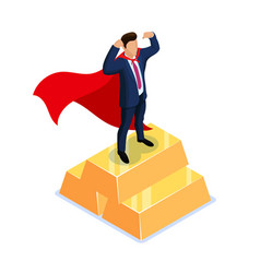 award for the best employee superhero concept vector image