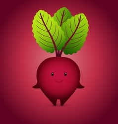 Baby Bordo Beet Cartoon Character vector