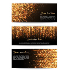 banners with golden lights vector image