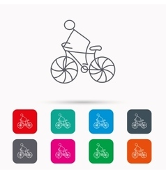 Biking sport icon Bicycle race sign vector image