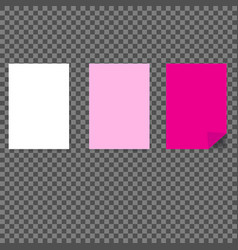 blank paper sheets vector image