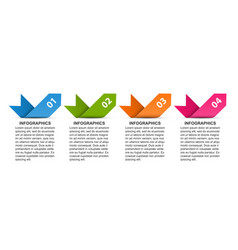 Business options infographic timeline design vector