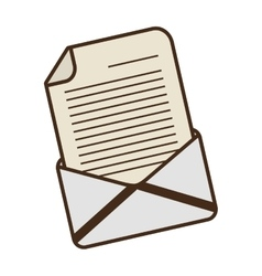 Cartoon email envelope message letter vector