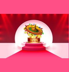 Casino banner roulette big win scene background vector