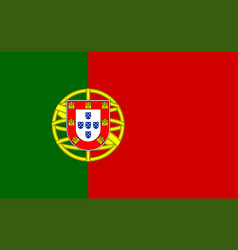 closeup portugal flag vector image