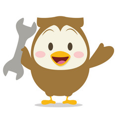 Collection owl with tool design vector