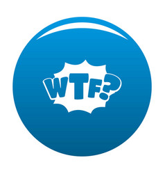 Comic boom wtf icon blue vector