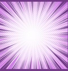 Comic light purple bursting background vector