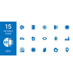 cpu icons vector image