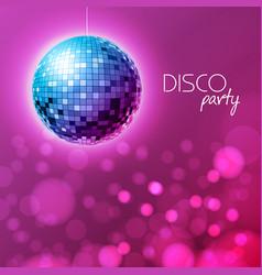 disco ball disco ball pink background vector image