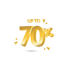 discount up to 70 template design vector image