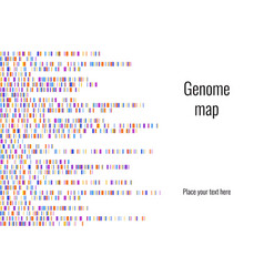 Dna test infographic genome vector