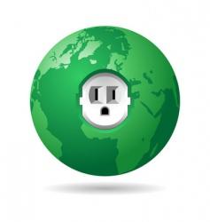 earth power USA vector image