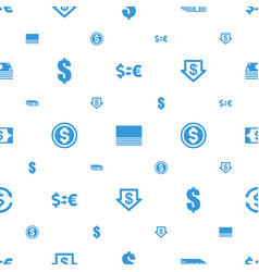 Exchange icons pattern seamless white background vector