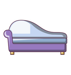 fashioned sofa icon cartoon style vector image