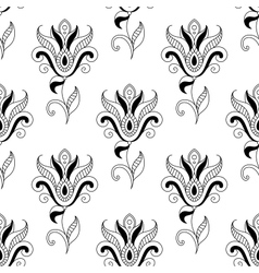 Floral seamless pattern with eastern motifs vector