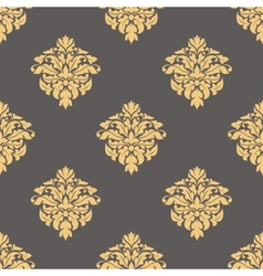 Floral yellow seamless pattern vector image